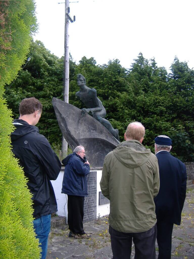 James Reddiough speaking at the Yan Goulet Monument in Kilkelly