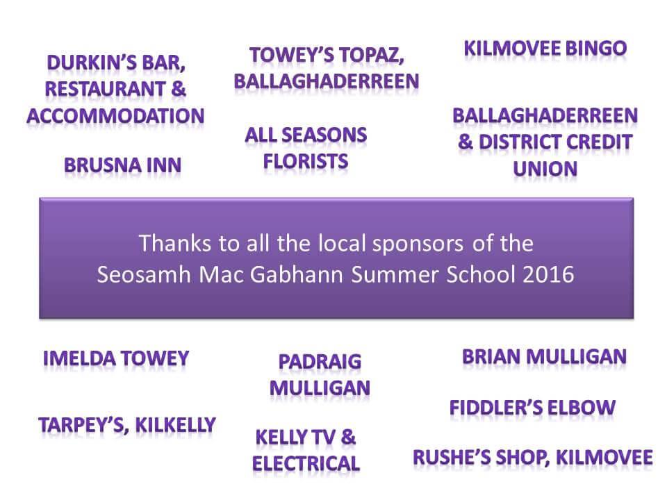 Local Sponsors 2016
