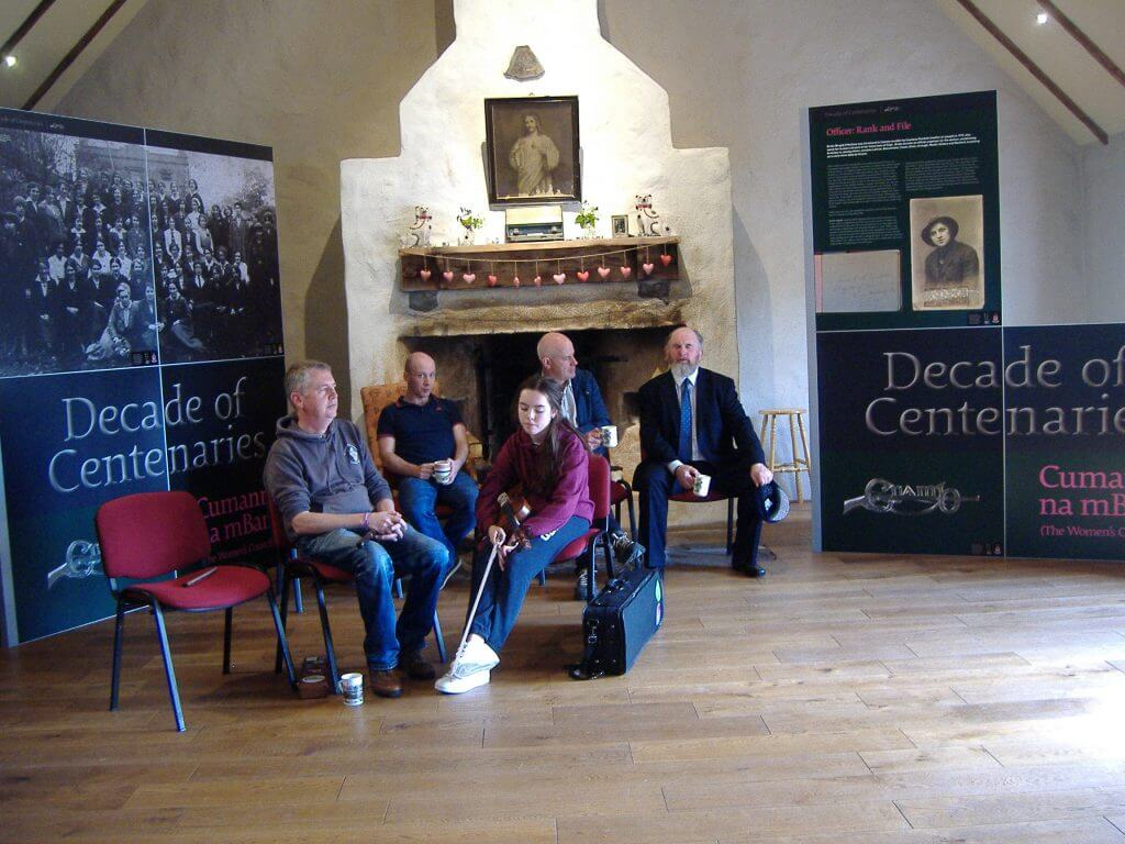 Paddy Joe Tighe singing a song in Cois Tine Heritage Centre, Kilmovee at the end of the Heritage Tour