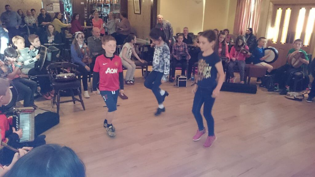 Some young dancers at our slow session in The Brusna Inn